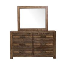 S290-010/030  Dresser and Mirror with Six Drawers and Distressed Fiinsh - Dakota