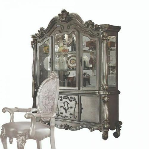 ACME Versailles Hutch & Buffet - 66824 - Antique Platinum