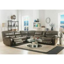 ACME Brax Sectional Sofa (Power Motion) - 53510 - Taupe Leather-Gel