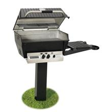 See Details - Deluxe Series - H3-PK2N Deluxe Grill Package with 48-Inch In-Ground Post (Natural Gas Only)