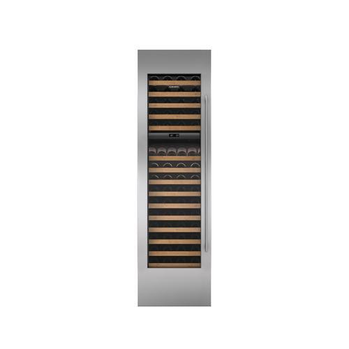 "Sub-Zero - Stainless Steel Wine Storage Door Panel with Tubular Handle and 4"" Toe Kick - Left Hinge"