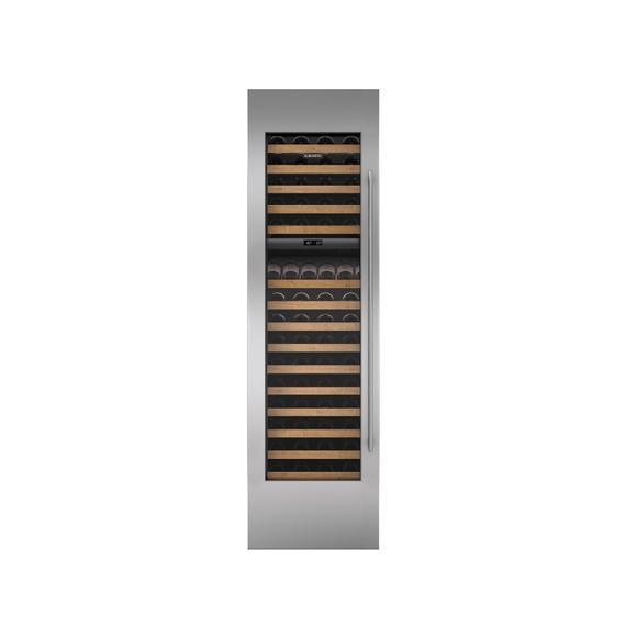 "Sub-Zero - Stainless Steel Wine Storage Door Panel with Tubular Handle and 6"" Toe Kick - Right Hinge"