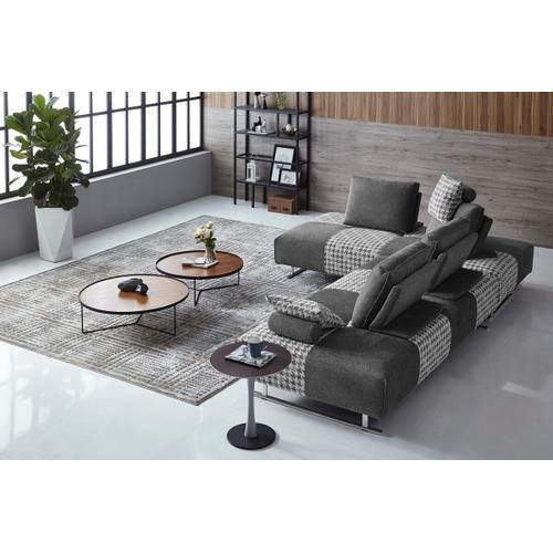 VIG Furniture - Divani Casa Cooke - Modern Grey Houndstooth Fabric Modular Sectional Sofa Bed