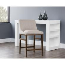 See Details - Halden Counter Stool - fabric: beige linen