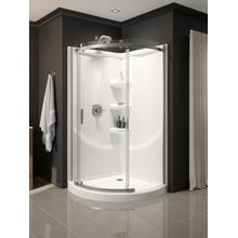 White 38'' Round Corner Shower Base