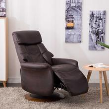 Oscar Recliner in Espresso Air Leather