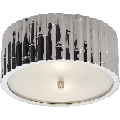 Alexa Hampton Frank 2 Light 11 inch Polished Nickel Flush Mount Ceiling Light
