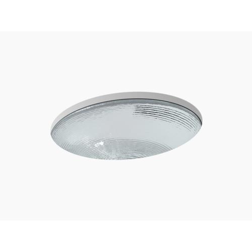 Translucent Doe Glass Undermount Bathroom Sink