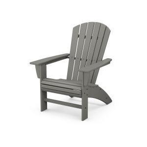 Polywood Furnishings - Nautical Curveback Adirondack Chair in Slate Grey