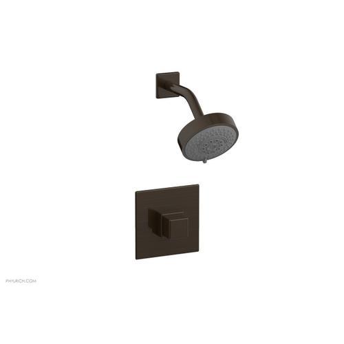 MIX Pressure Balance Shower Set - Cube Handle 290-24 - Antique Bronze