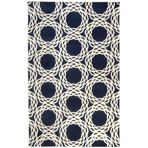 Oxford Navy Hand Knotted Rugs