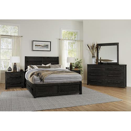 Queen - Plank Bed with 1 Side Storage