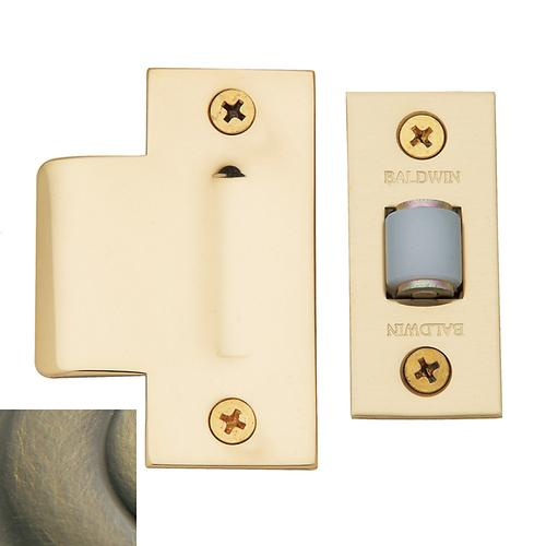 Baldwin - Satin Brass and Black Adjustable Roller Latch