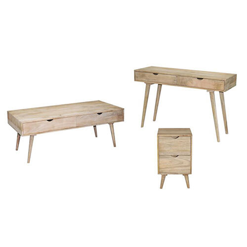 Progressive Furniture - Sofa/Console Table - Vanilla Finish