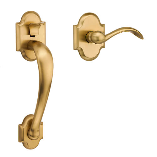 Baldwin - Lifetime Satin Brass Boulder Handle Grip Sectional