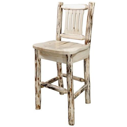 Montana Woodworks - Montana Collection Barstool with Back