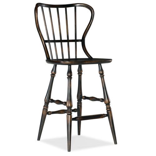 Hooker Furniture - Ciao Bella Spindle Back Bar Stool-Black