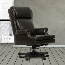 See Details - DC#105-PBR - DESK CHAIR Leather Desk Chair