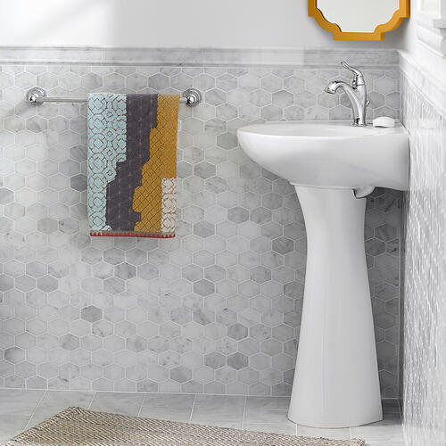 American Standard - Cornice Pedestal Sink - White