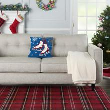 """Home for the Holiday Yx028 Multicolor 18"""" X 18"""" Throw Pillow"""