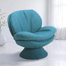 See Details - Pub Leisure Accent Chair in Turquoise Fabric