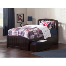 Richmond Twin XL Bed with Matching Foot Board with 2 Urban Bed Drawers in Espresso