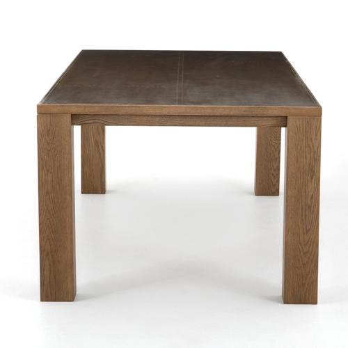 Bettina Dining Table-bright Brass Clad