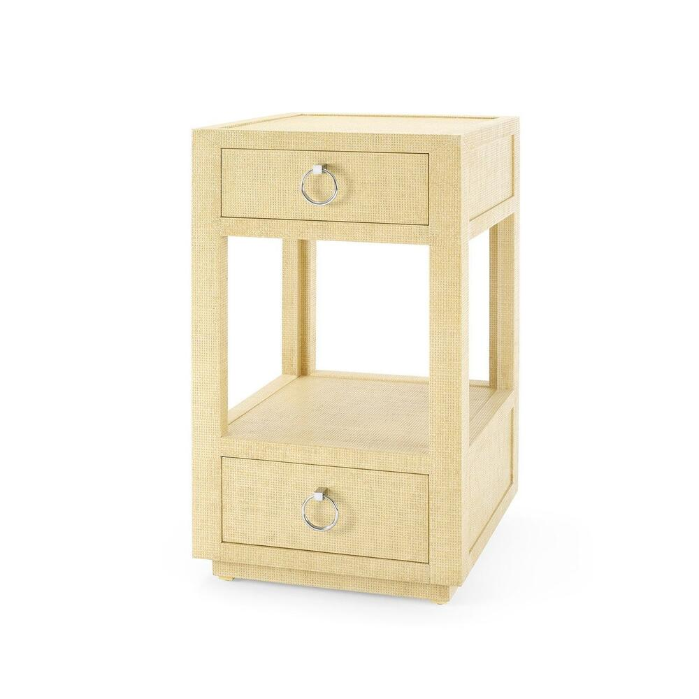 Camilla 2-Drawer Side Table, Straw