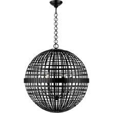 View Product - AERIN Mill 6 Light 30 inch Aged Iron Globe Lantern Ceiling Light, Large