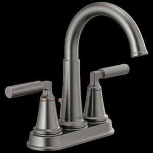 Black Stainless Two Handle Centerset Bathroom Faucet Product Image