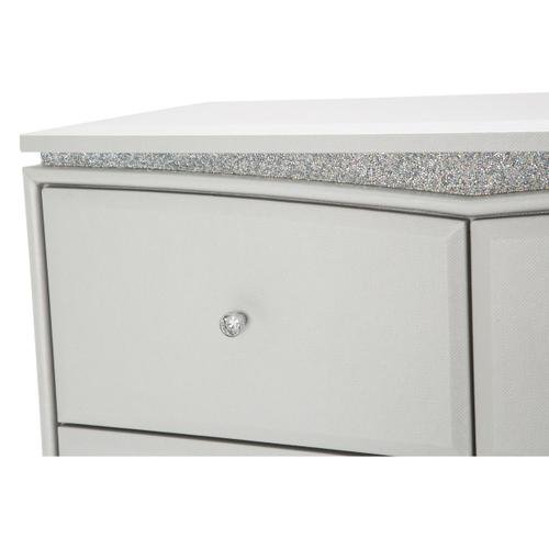 Upholstered 5 Drawer Vertical Storage Cabinets-chest of Drawers