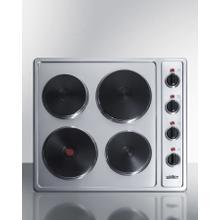 """24"""" Wide 230v 4-burner Solid Disk Cooktop"""