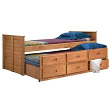 Twin Captain Bed w/Twin Trundle Unit