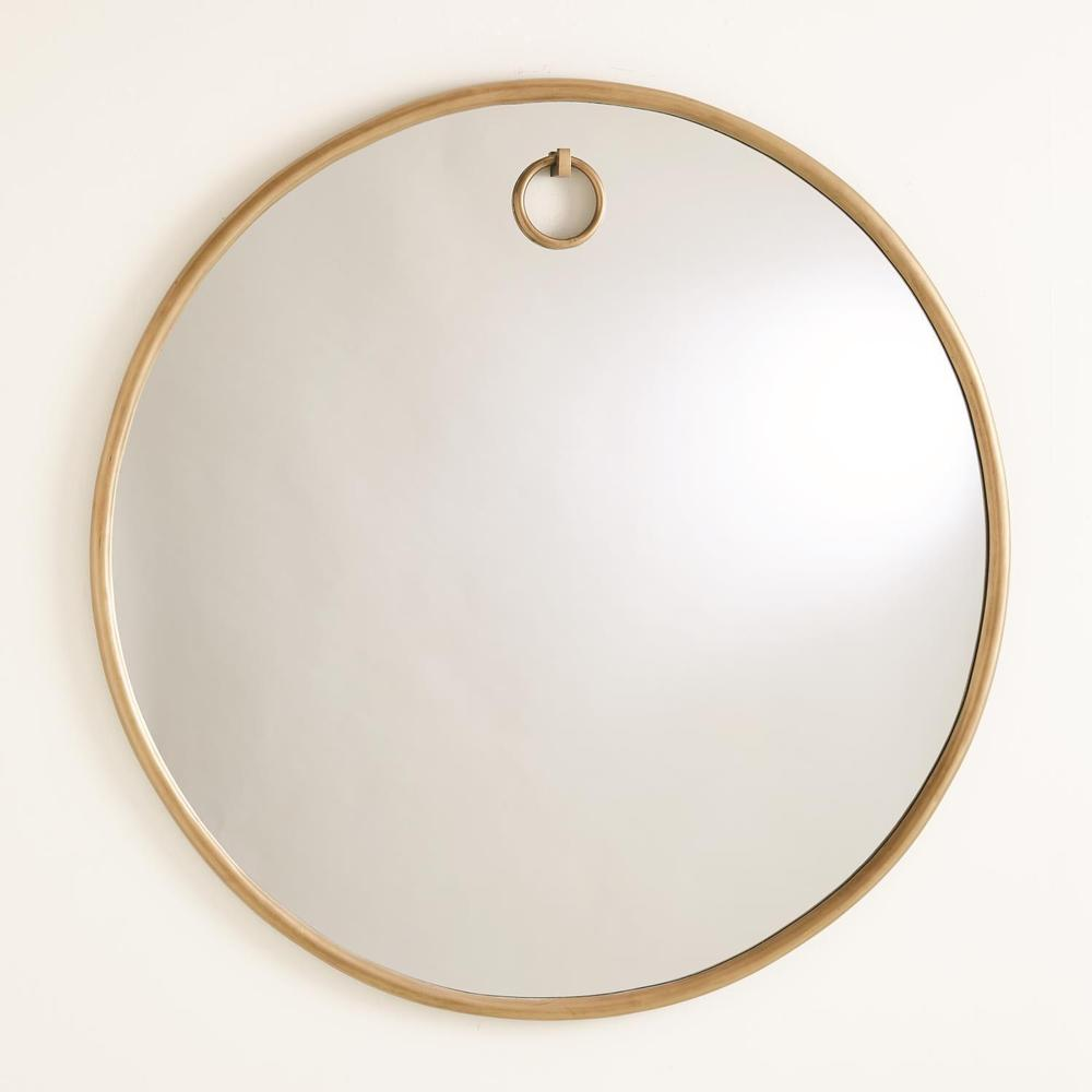 See Details - Exposed Mirror-Antique Brass-Lg