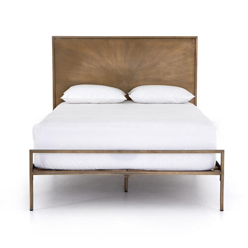 Sunburst Queen Bed-brass