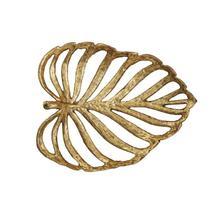 "See Details - 12-1/4""L x 10""W Decorative Cast Iron Leaf, Gold Fin"