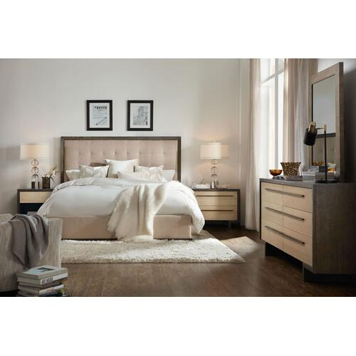 Bedroom Miramar Point Reyes Angelico Cal King Upholstered Panel Bed