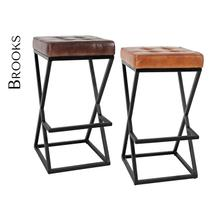 Brooks Leather Stool (1/ctn)