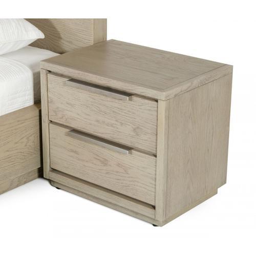 VIG Furniture - Modrest Samson - Contemporary Grey and Silver Nightstand
