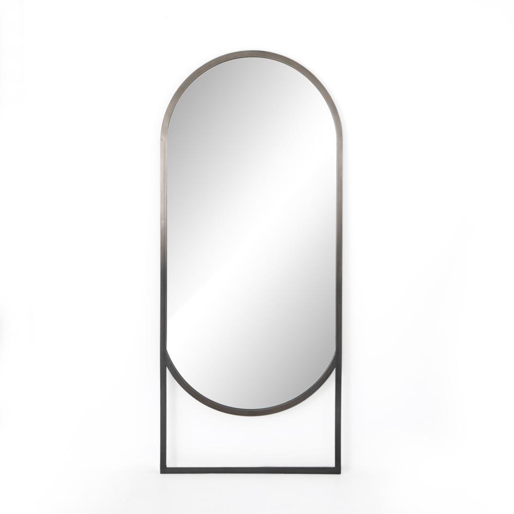 Ombre Pewter Finish Dawson Floor Mirror
