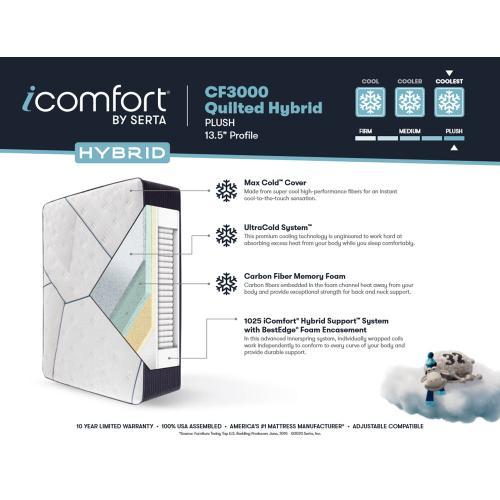 iComfort Hybrid - iComfort Hybrid - CF3000 Quilted - Plush - Twin XL
