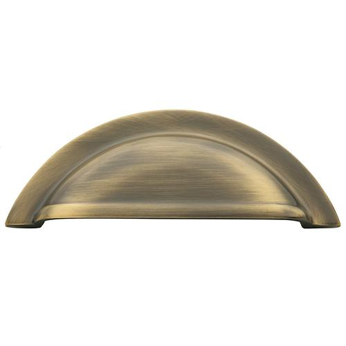 Baldwin - Satin Brass and Black Cup Pull
