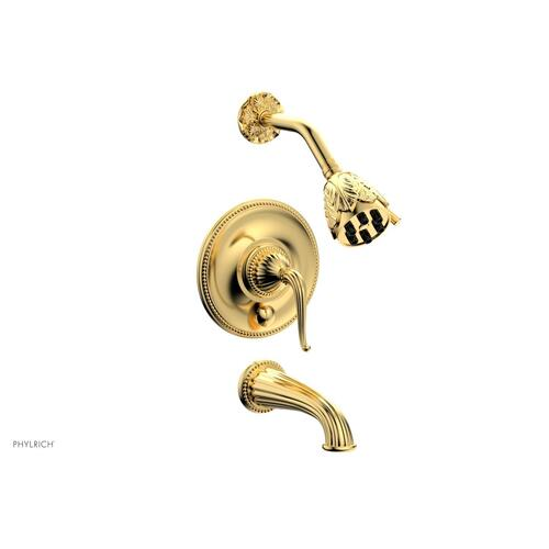 GEORGIAN & BARCELONA Pressure Balance Tub and Shower Set PB2141 - Satin Gold