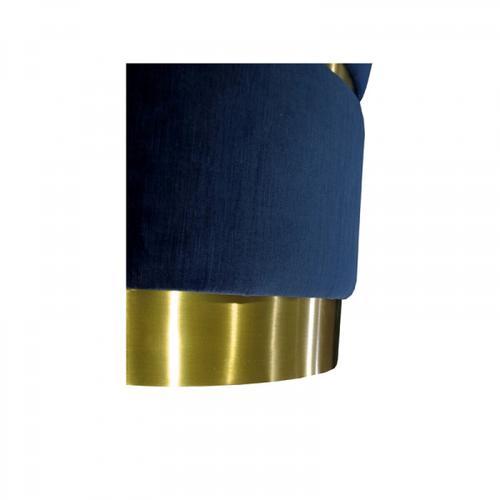 VIG Furniture - Divani Casa Tenaya Modern Blue Velvet & Gold Ottoman