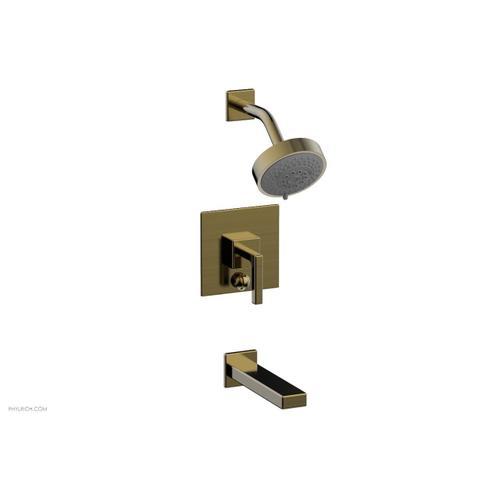 MIX Pressure Balance Tub and Shower Set - Lever Handle 290-27 - Antique Brass