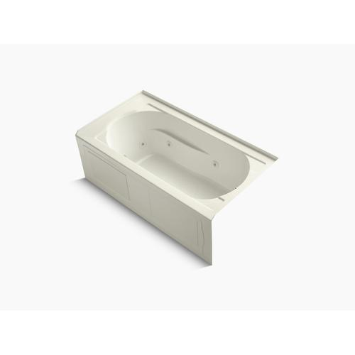 """Biscuit 60"""" X 32"""" Alcove Whirlpool With Integral Apron, Integral Flange, Right-hand Drain and Heater"""