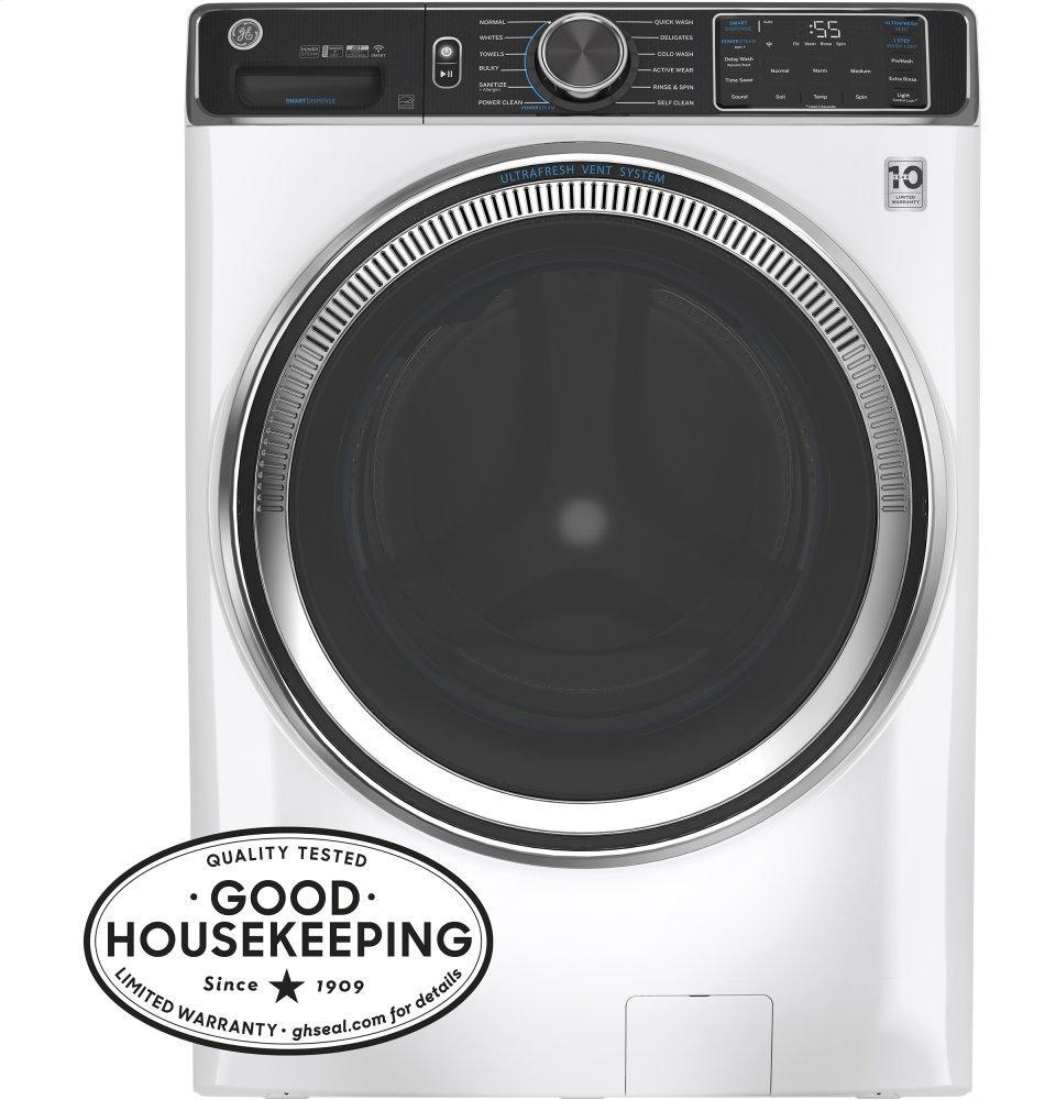GEGe(r) 5.0 Cu. Ft. Capacity Smart Front Load Energy Star(r) Steam Washer With Smartdispense(tm) Ultrafresh Vent System With Odorblock(tm) And Sanitize + Allergen