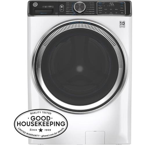 GE Appliances - GE® 5.0 cu. ft. Capacity Smart Front Load ENERGY STAR® Steam Washer with SmartDispense™ UltraFresh Vent System with OdorBlock™ and Sanitize + Allergen