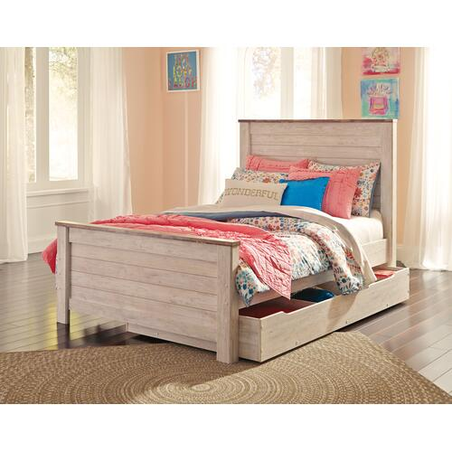 Willowton - Whitewash 3 Piece Bed (Full)