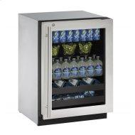 """2224bev 24"""" Beverage Center With Stainless Frame Finish and Right-hand Hinge Door Swing (115 V/60 Hz Volts /60 Hz Hz)"""